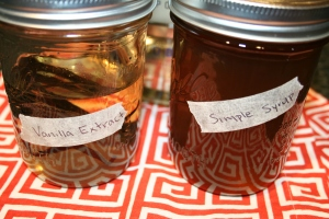 vanilla bean extract with it's friend simple syrup!